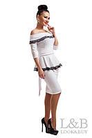 Белое нарядное платье ФРЕНЧ  48