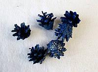 Набор из 6-ти шишек для  творчества шишки синий. Новогодние украшения