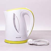 Чайник 1.7л электрический пластиковый (белый с салатовым)
