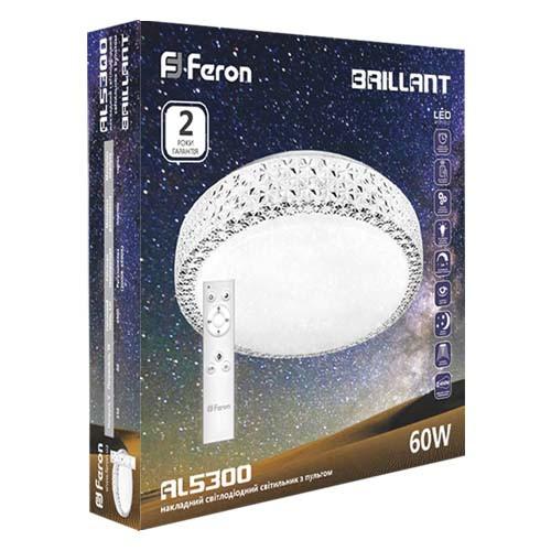 Светодиодная люстра с пультом 60w Feron AL5300 BRILLANT