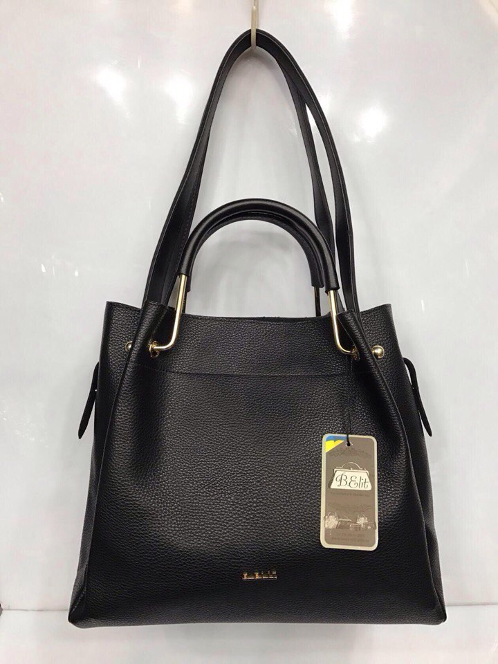 a9879afef724 ... Черная женская сумка-шоппер B.Elit с отстёгивающимся кошельком, ...