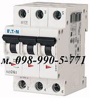 Автоматический выключатель Eaton/Moeller 3pol PL4 B 6A