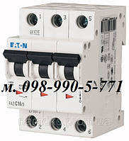 Автоматический выключатель Eaton/Moeller 3pol PL4 С 6A