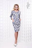 Ангоровое женское платье Ливс больших размеров