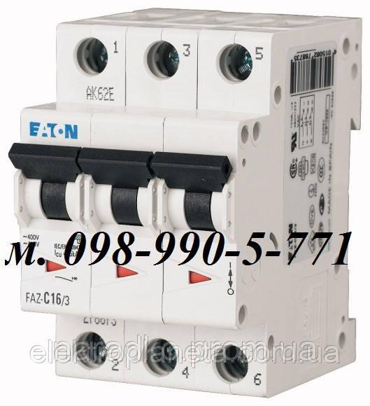 Автоматический выключатель Eaton/Moeller 3pol PL6-C 40А