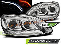 Тюнингованные фары В СТИЛЕ W222 на Mercedes S W220 1998-2005 LED / TUBE LIGHT, фото 1