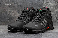Мужские зимние ботинки Adidas (Чёрные из Серым)