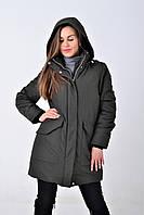 Куртка парка женская Zara(зара) с капюшоном размер S длинная Куртка верхняя одежда