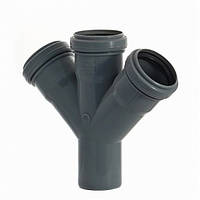 Крестовина  для канализации 50 мм 45 градусов Инсталпласт-ХВ