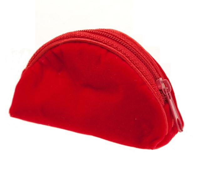 Кошелек подарочный Бархат красный 7,5*3*4,5 см
