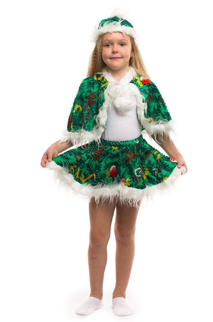 Детский карнавальный костюм Елочка мех (3-7 лет)