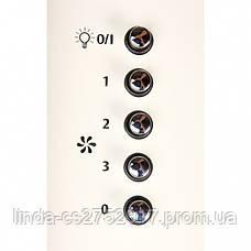 Кухонная вытяжка ELEYUS Titan A 1200 LED SMD (бежевая,белая,нерж.сталь), фото 3