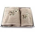 Набор махровых полотенец в коробке