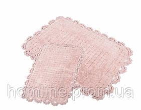 Набор ковриков для ванной Irya Mina 60*90+40*60 розовый