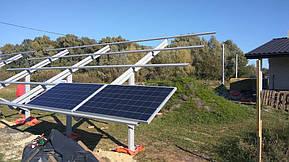 Монтаж солнечной электростанции на регулируемых столах (трекерах). Столы могут регулироваться на разный угол для наибольшей выработки исходя... 9