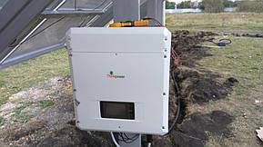 Монтаж солнечной электростанции на регулируемых столах (трекерах). Столы могут регулироваться на разный угол для наибольшей выработки исходя... 17