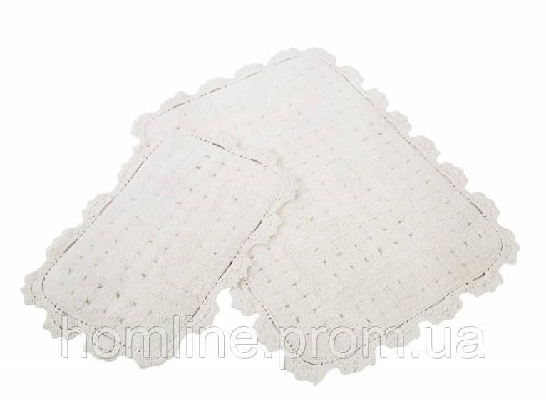 Набор ковриков для ванной Irya Mina 60*90+40*60 кремовый