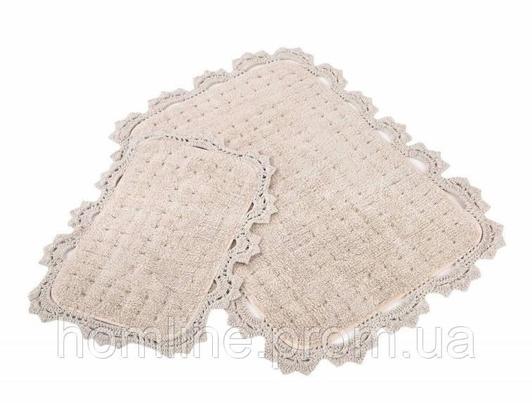 Набор ковриков для ванной Irya Mina 60*90+40*60 бежевый
