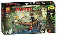 "Конструктор Ninjago Movie Bela 10715 (аналог Lego 70608) ""Битва Гармадона и Мастера Ву"""