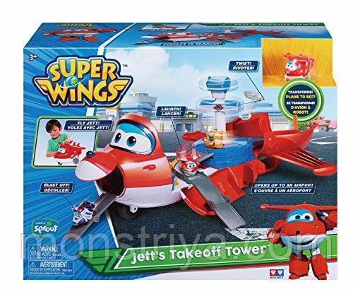 Игровой набор Супер Крылья Джет трансформер аэропорт Super Wings