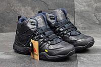 Мужские зимние Ботинки Adidas (Тёмно синие)