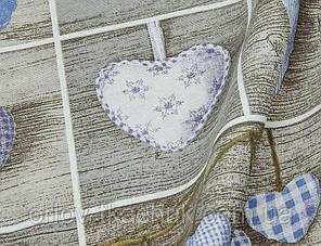 Ткань новогодняя Сердечки