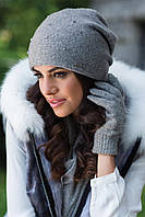 Penelopa, зимняя женская шапка Kamea, шерстяная, серый цвет