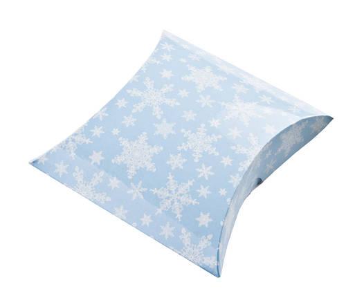 Пирожок снежинки голубые 12х7,5см