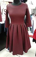 Теплое платье с юбкой в складку