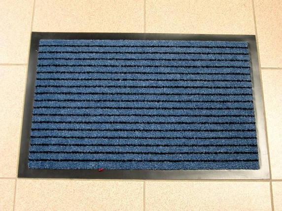 Придверный грязезащитный коврик на резиновой основе с окантовкой Condor Entree 40х60, Синий, фото 2