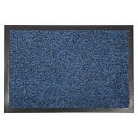 Придверный грязезащитный коврик на резиновой основе с окантовкой Condor Entree 60х90, Синий