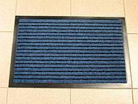 Придверный грязезащитный коврик на резиновой основе с окантовкой Condor Entree 90х150, Синий