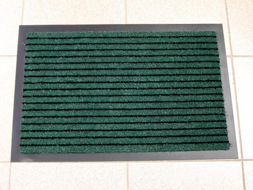 Придверный грязезащитный коврик на резиновой основе с окантовкой Condor Entree 90х150, Зеленый