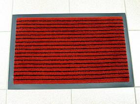 Придверный грязезащитный коврик на резиновой основе с окантовкой Condor Entree 90х150, Красный