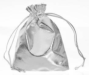 Мешочек органза серебро