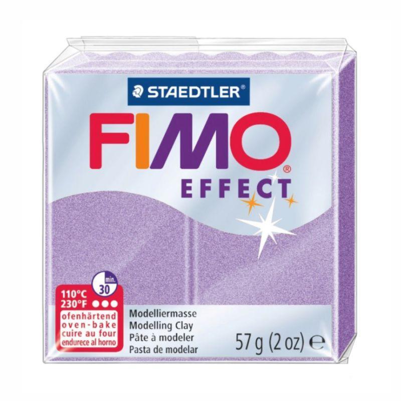 Пластика, полимерная глина, фимо Fimo Effect, перламутровая лилия, 57 грамм, Staedtler, 8020607