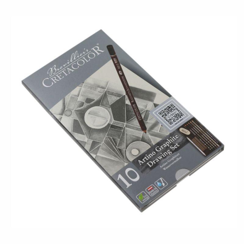 Набор графитовый, металлический пенал, Artino Graphite, Cretacolor, 90540021