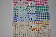 Полотенца кухонные из льна (20*45 см) Мишки