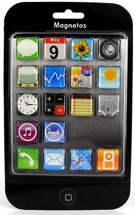 Iphone – набір магнітів, 18 шт, фото 2