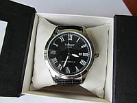 Мужские наручные часы Tissot (Тиссот) хром с чёрным циферблатом