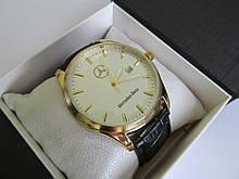 Мужские наручные часы Mercedes (Мерседес), золото с белым циферблатом