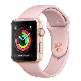 Apple Watch Series 3 38mm (GPS) Gold Aluminum Case with Pink Sand Sport Band (MQKW2)