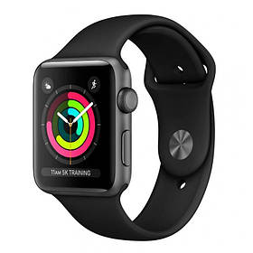 Apple Watch Series 3 38mm (GPS) Space Gray Aluminum Case with Black Sport Band (MQKV2)
