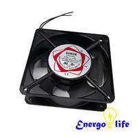 Вентилятор черный (аллюминиевый) для кухонной вытяжки, размер: 120х120х38, ST 225