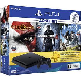 Sony PlayStation 4 Slim 500GB (CUH-2108A)+Horizon Zero Dawn+Uncharted 4 Путь вора+God of War 3+PSPlus 3 месяца