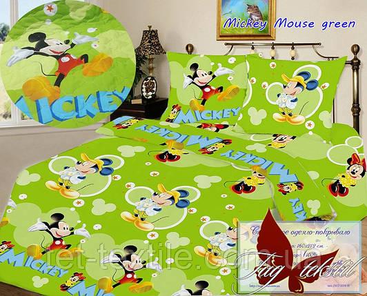 Покрывало детское стеганое Mickey Mouse (зеленое), фото 2