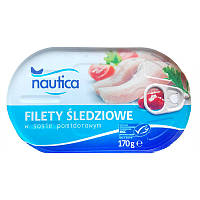Филе сельди в томатном соусе Nautica 170г.