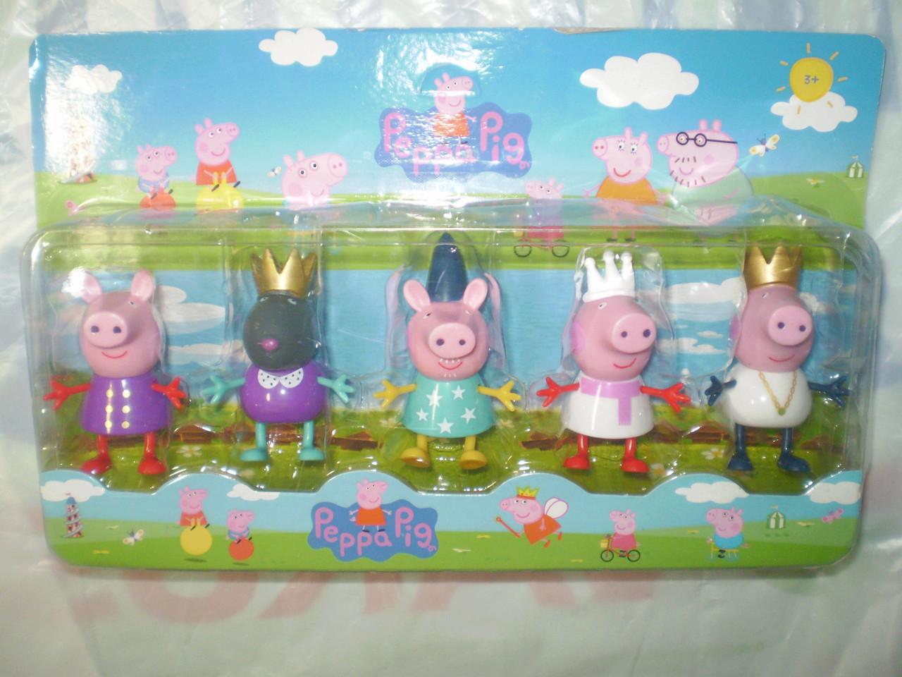 Фигурки Королевство Свинка Пеппа, набор из 5 фигурок
