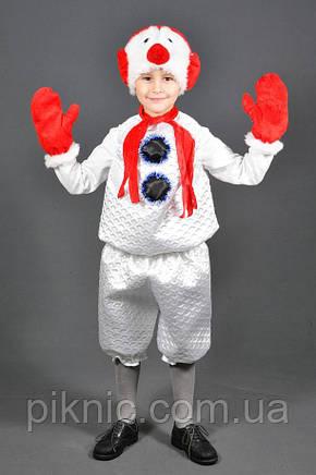 Карнавальный костюм Снеговик 5,6,7,8 лет. Детский новогодний маскарадный костюм Снеговичок, фото 2