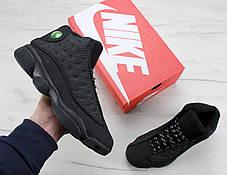 Мужские баскетбольные кроссовки Nike nike Air Jordan 13 Retro Black Cat. ТОП Реплика ААА класса., фото 2